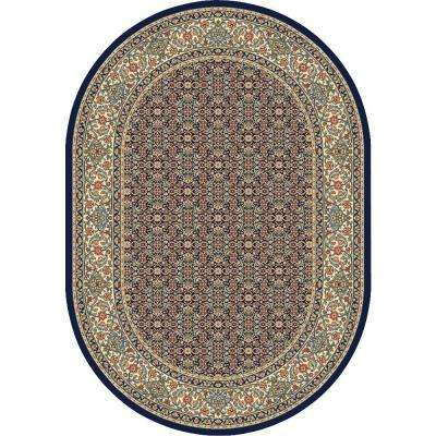 Hughes Navy 7 ft. x 10 ft. Indoor Oval Area Rug