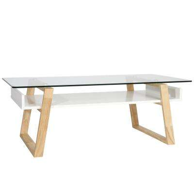 Segovia Natural Glass Top Coffee Table