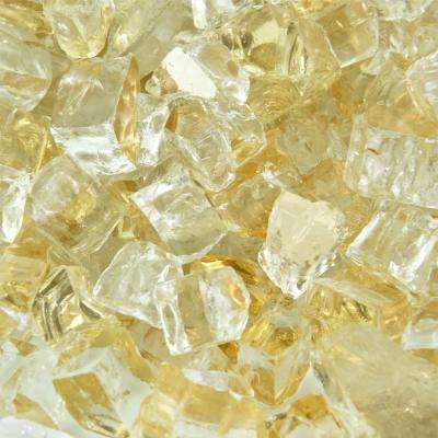 10 lbs. of Gold Strike 1/2 in. Reflective Fire Glass