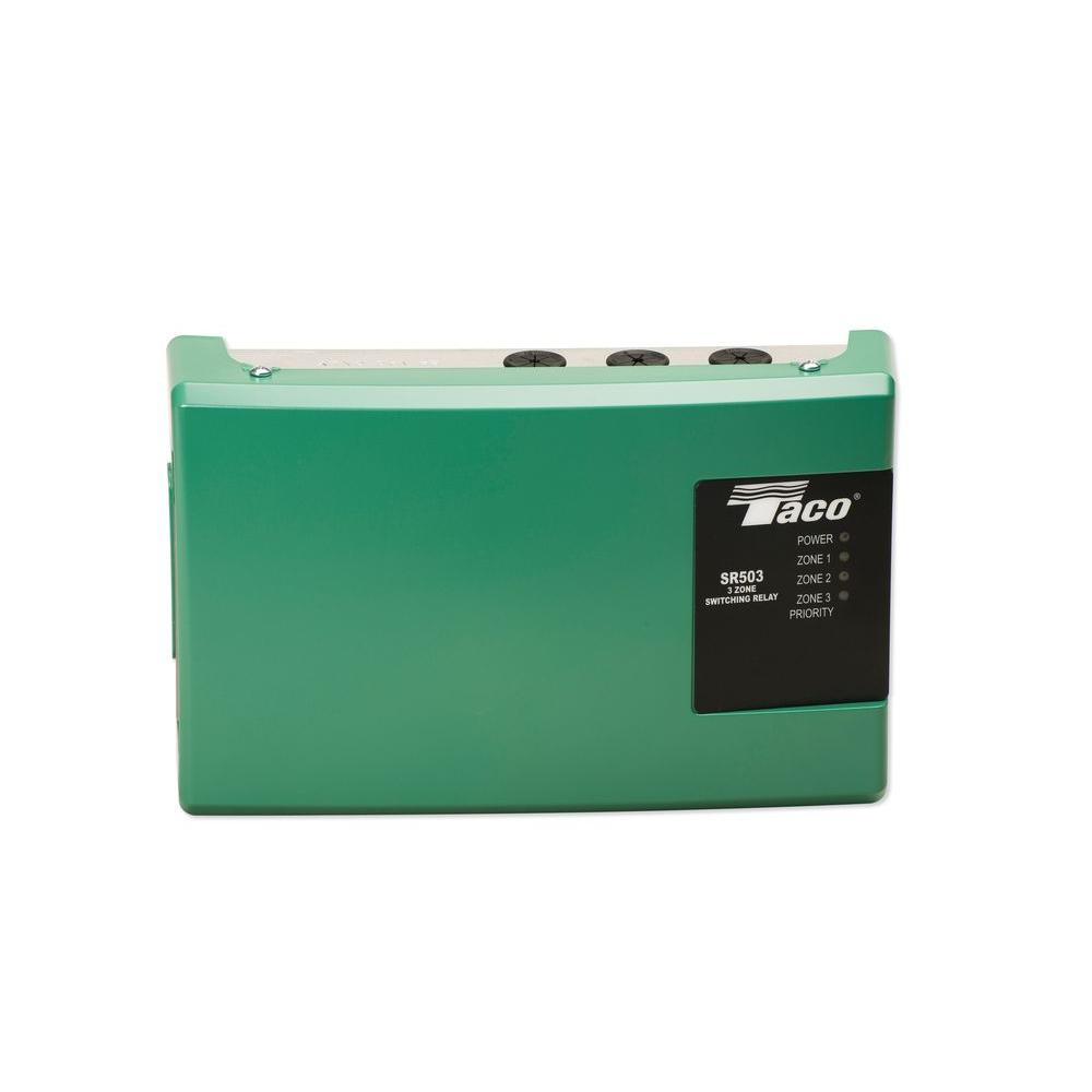 Taco 3 Zone Switching Relay-SR 503-4 - The Home Depot