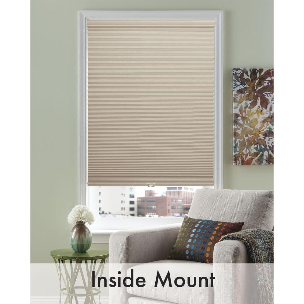 Bali Cut-to-Size Wheat Linen 3/8 in. Cordless Light Filtering Cellular Shade - 35 in. W x 72 in. L (Actual Size is 34.5 in. W x 72 in. L)