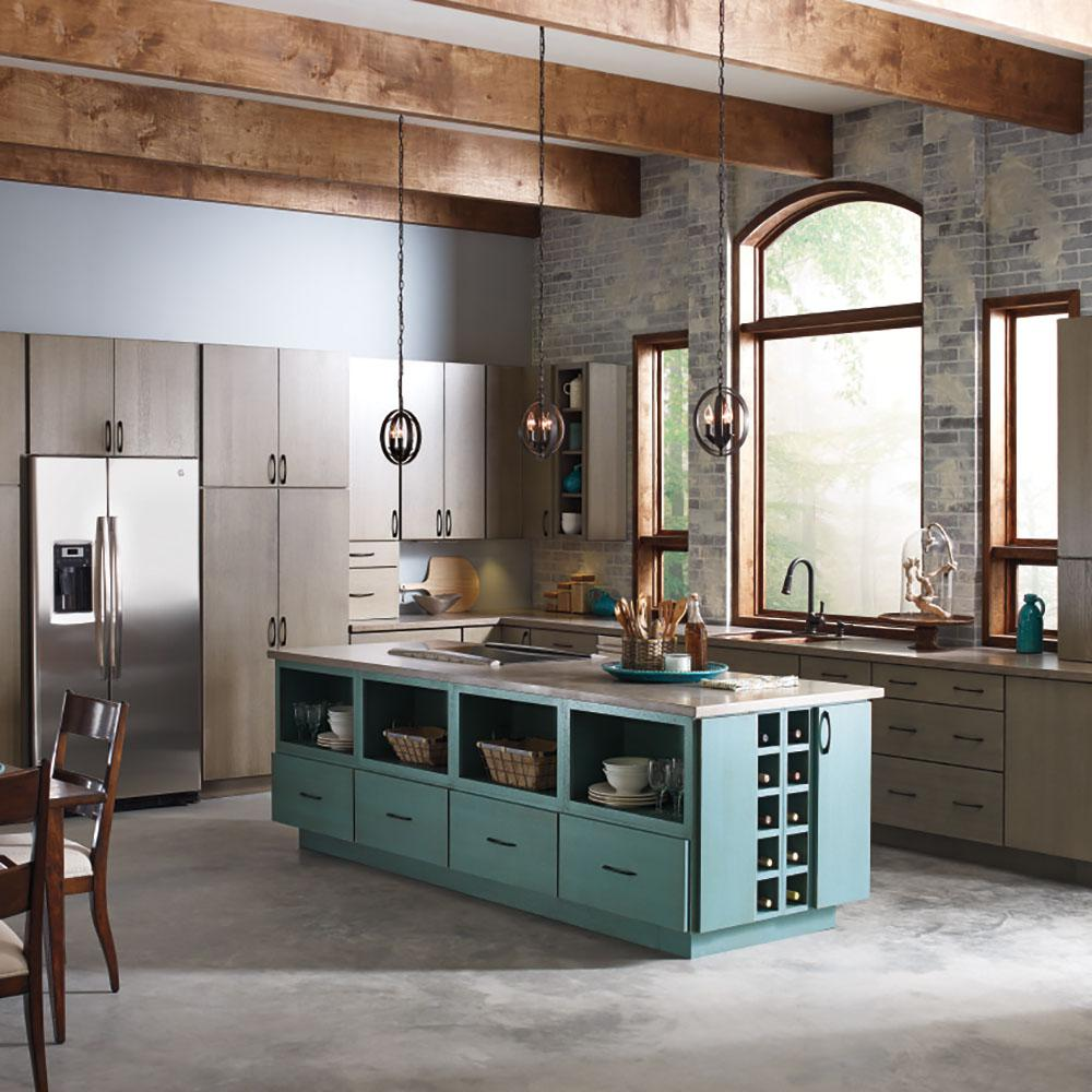 Thomasville Artisan Custom Kitchen Cabinets Shown In Industrial Style Hdinsttspw The Home Depot
