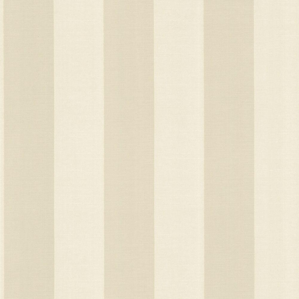The Wallpaper Company 8 in. x 10 in. Beige Venetian Silk Stripe Wallpaper Sample