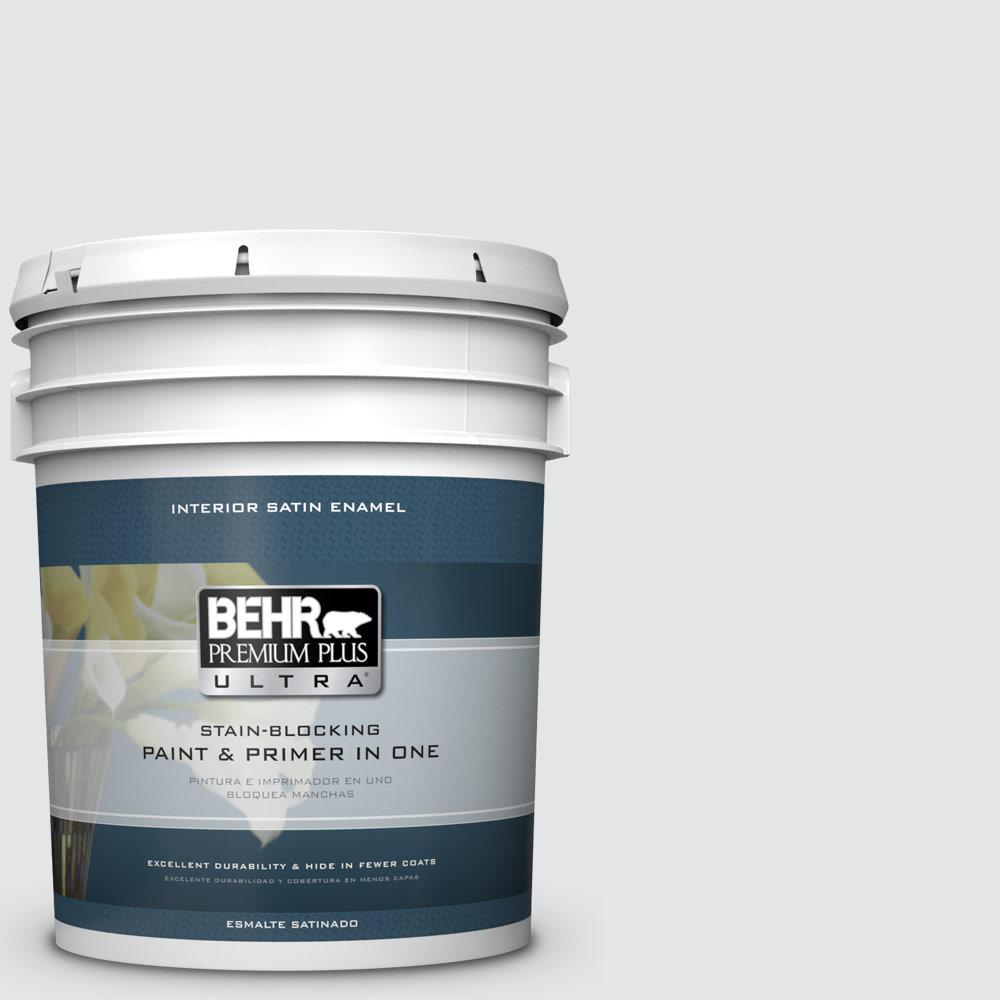 5 gal. #PPU26-13 Silent White Satin Enamel Interior Paint