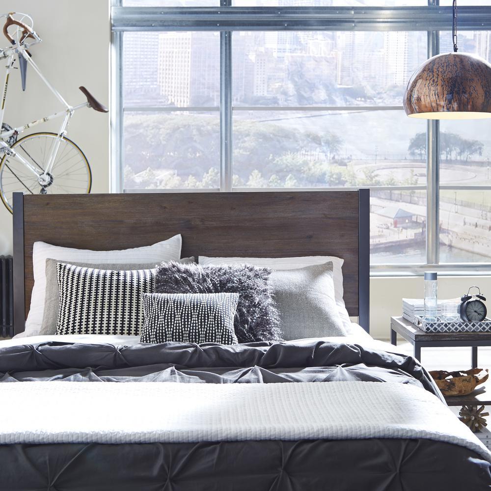 Home Styles Barnside Metro 2-Piece Driftwood Queen Bedroom Set 5053-5015