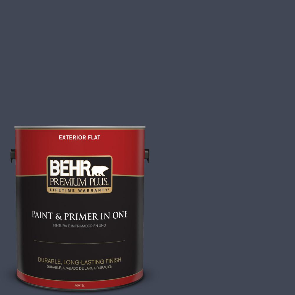 1 gal. #PPU14-20 Starless Night Flat Exterior Paint
