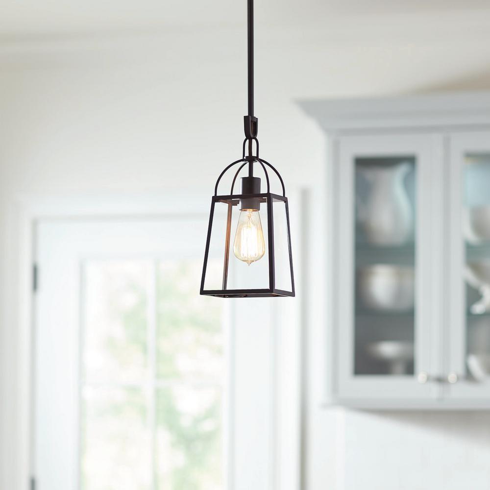 Tammany 1-Light Black Pendant