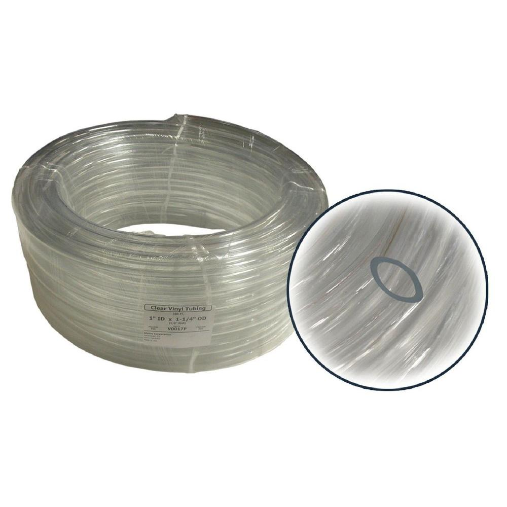 1 in. ID x 1/8 in. Wall PVC Clear Tubing Coil