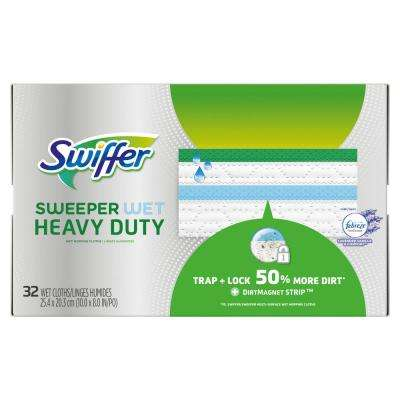 Sweeper Wet Heavy-Duty Lavender and Vanilla Wet Mopping Cloth (32-Count)