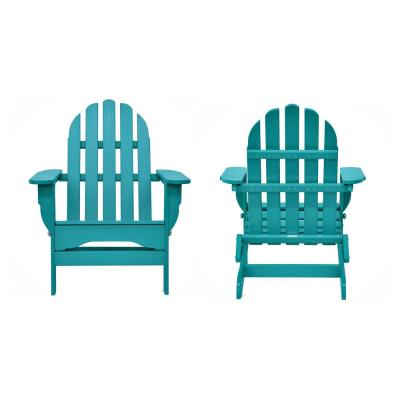 Icon Aruba Recycled Plastic Folding Adirondack Chair (2-Pack)