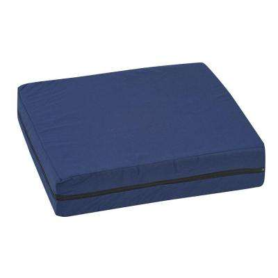 Standard Polyfoam 16 in. x 18 in. x 4 in. Wheelchair Cushion in Navy