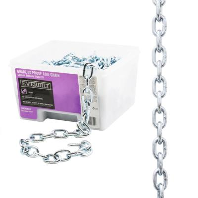 5/16 in. x 50 ft. Grade 30 Zinc Plated Steel Proof Coil Chain