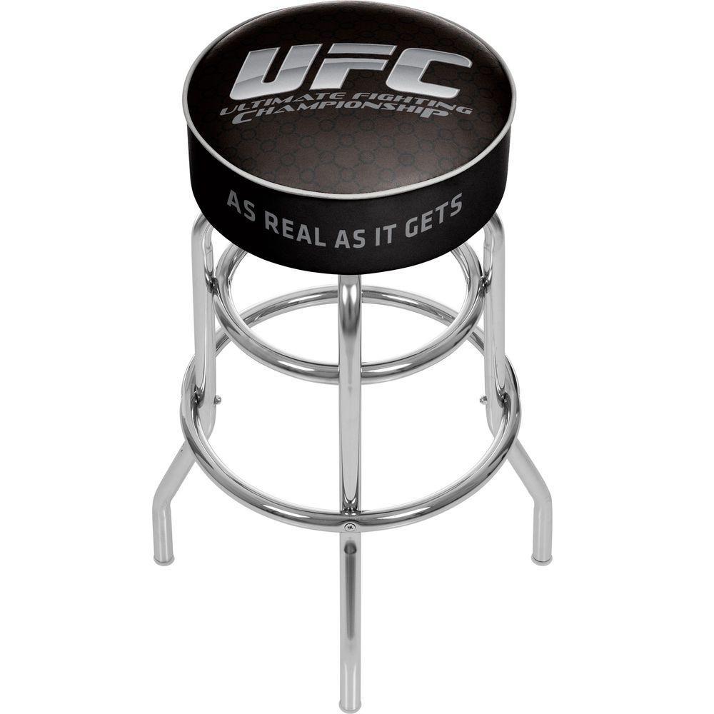 UFC I 31 in. Chrome Swivel Cushioned Bar Stool