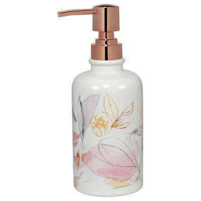 Blush and Blooming Lotion and Soap Dispenser