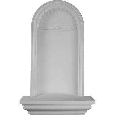 30-1/4 in. x 14-3/8 in. x 50 in. Primed Polyurethane Recessed Mount Bedford Wall Niche