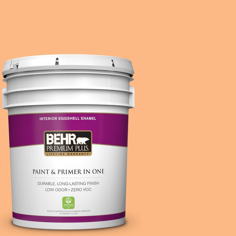 BEHR Premium Plus 5-gal. #250B-4 Coral Gold Zero VOC Eggshell Enamel Interior Paint