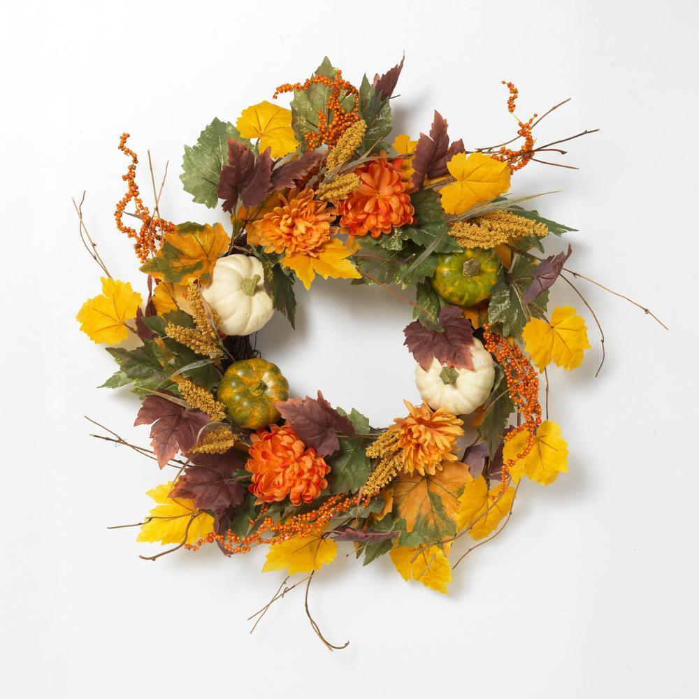 26 in. D Harvest Wreath