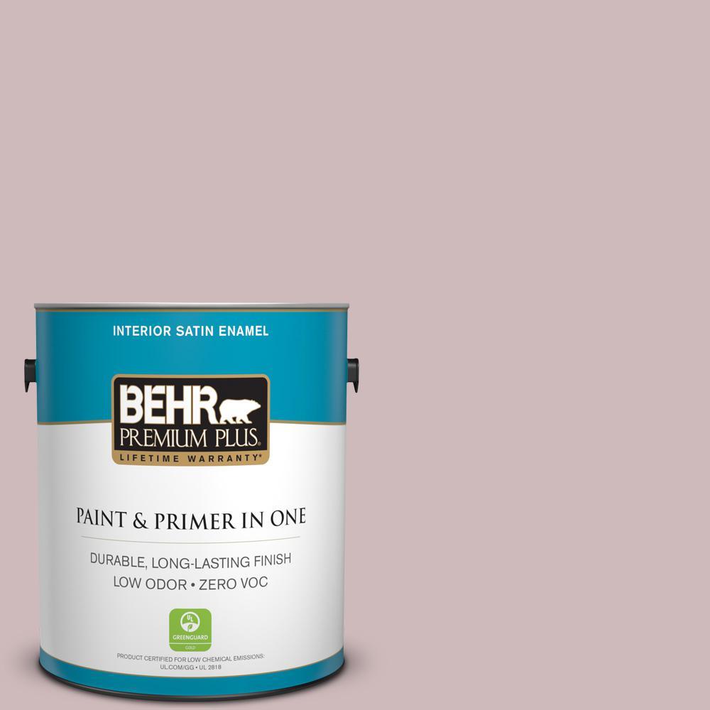 BEHR Premium Plus 1-gal. #N120-3 Mauve It Satin Enamel Interior Paint