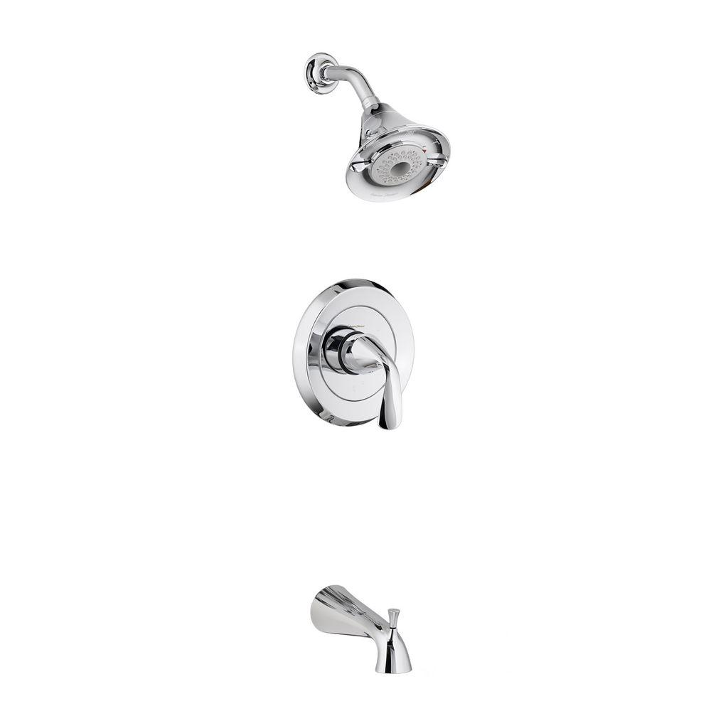 Fluent Flowise 1-Handle Tub and Shower Faucet Trim Kit in Polished