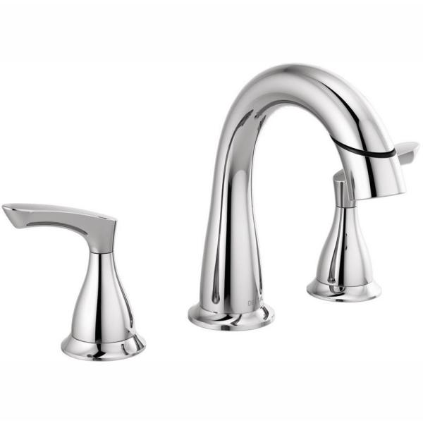 Broadmoor 8 in. Widespread 2-Handle Bathroom Faucet with Pull-Down Spout in Chrome