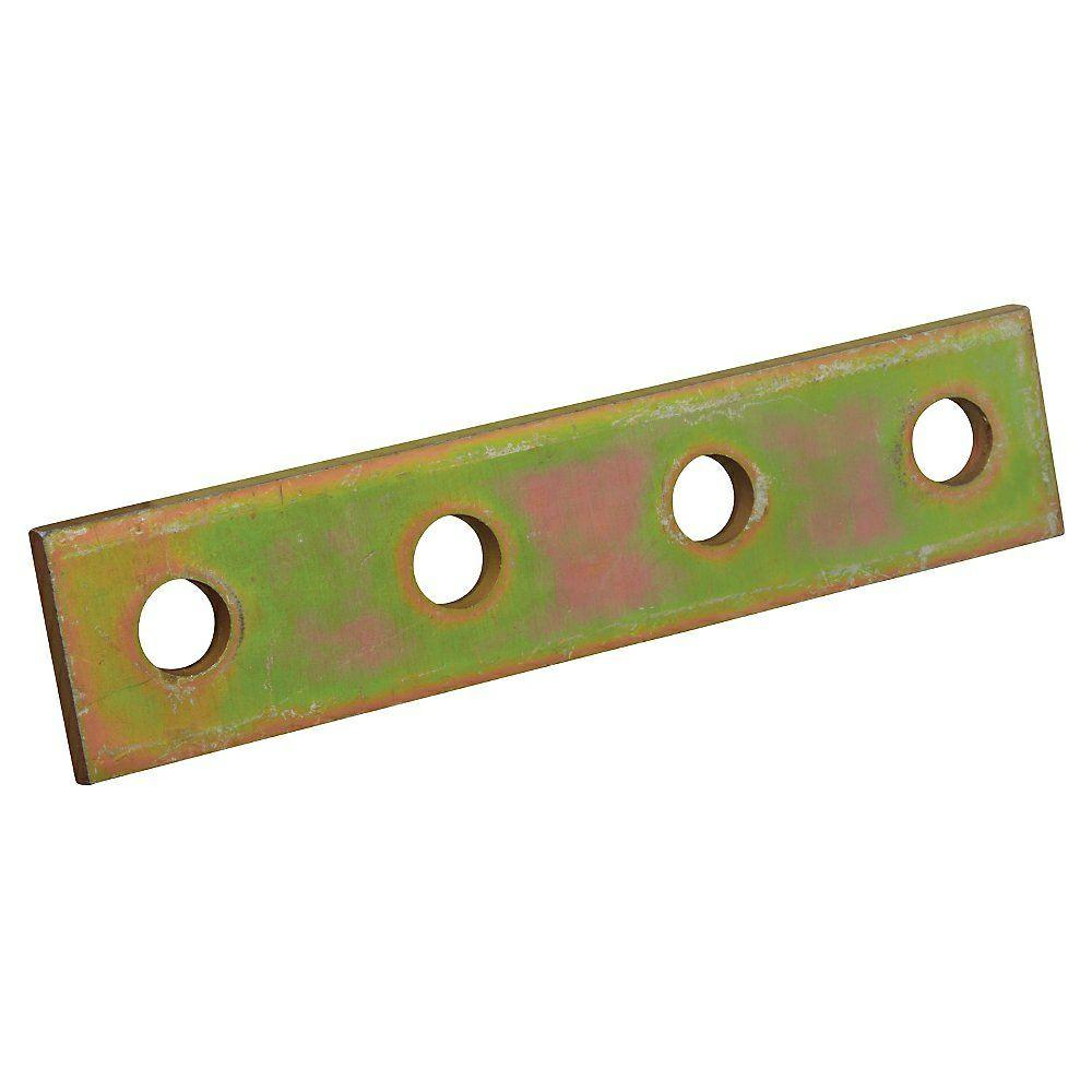 4-Hole Flat Straight Bracket, Gold Galvanized-ZX207-10 - The Home ...