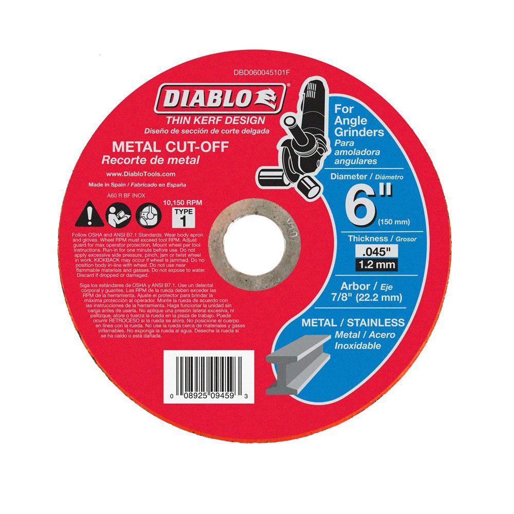 Diablo 6 in. x 0.045 in. x 7/8 in. Thin Kerf Metal Cut-Off Disc