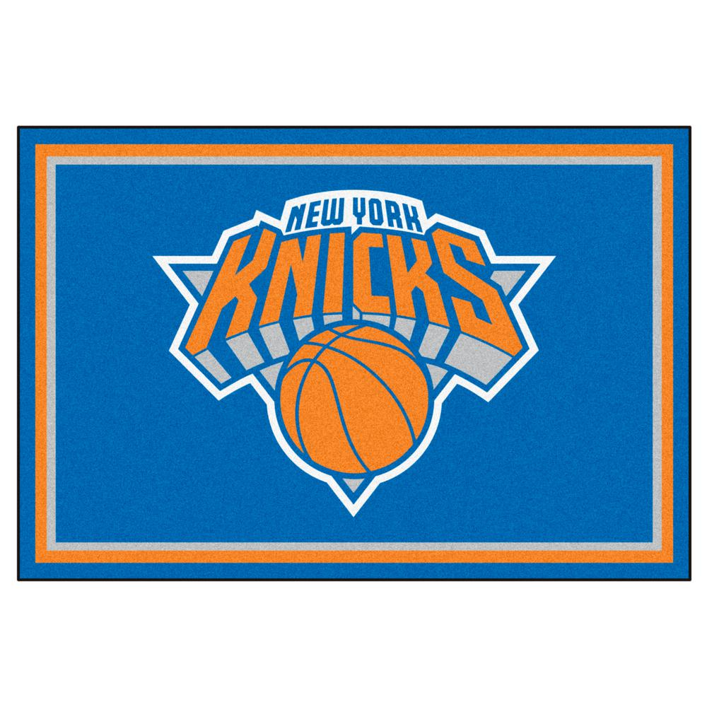 low priced 1fe3f c6cc6 FANMATS New York Knicks 5 ft. x 8 ft. Area Rug