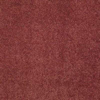 Carpet Sample - Coral Reef II - Color Berry Rich Texture 8 in. x 8 in.