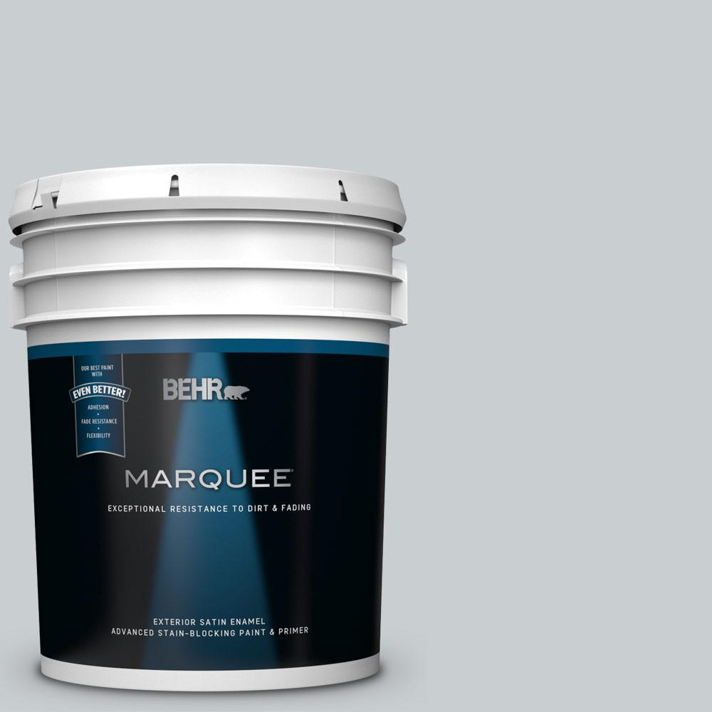 Behr Marquee 5 Gal 760e 2 Manhattan Mist Satin Enamel Exterior Paint And Primer In One 945005 The Home Depot
