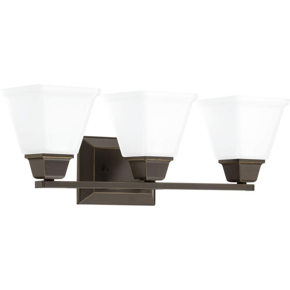 Clifton Heights Collection 3-Light Antique Bronze Bath Light