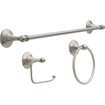 Greenwich II 3-Piece Accessory Set in SpotShield Brushed Nickel