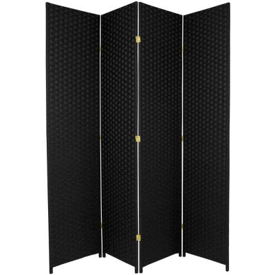 7 ft. Black 4-Panel Room Divider