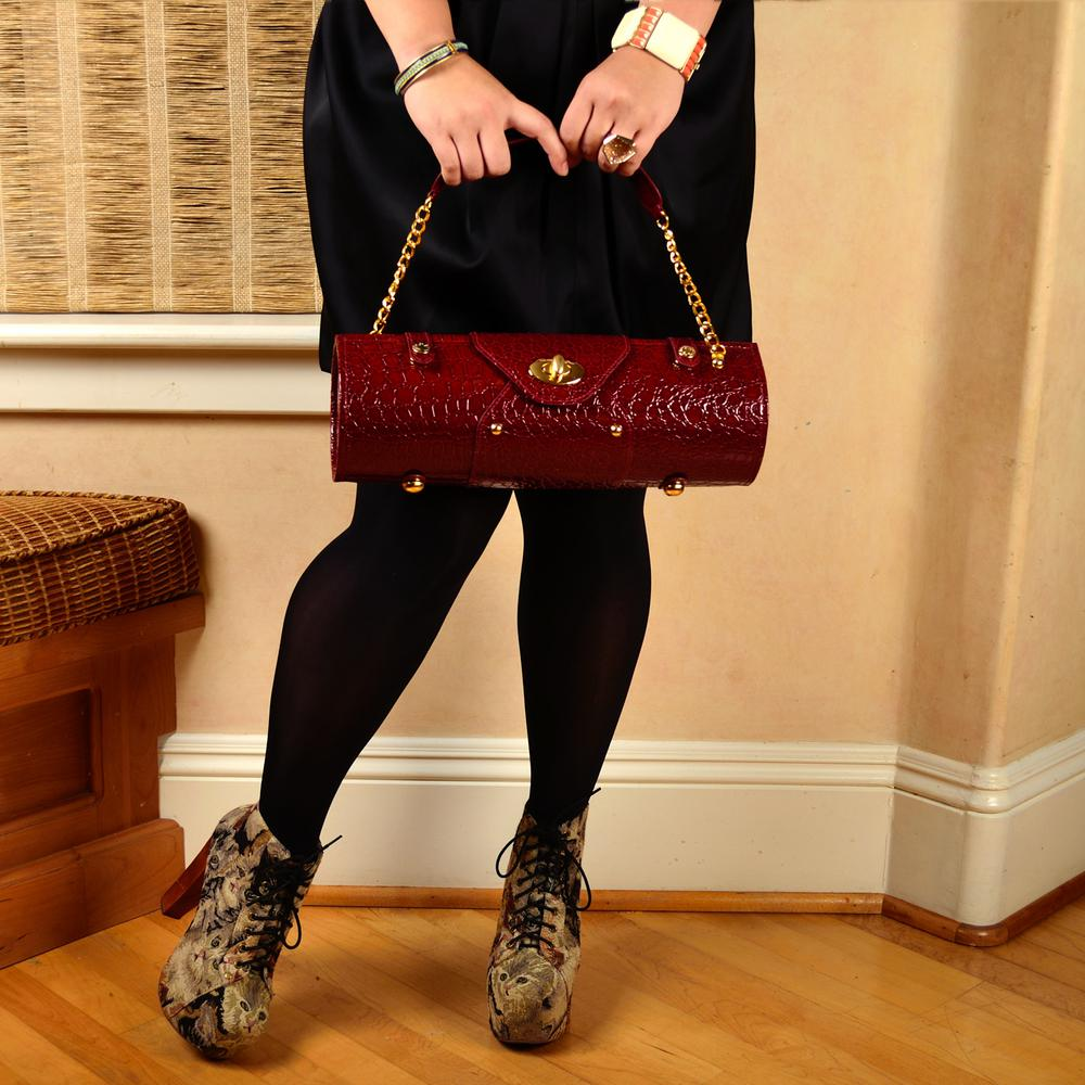 Burgundy Wine Carrier and Purse