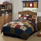 Classic 2-Piece Blue Sports Twin Quilt Set