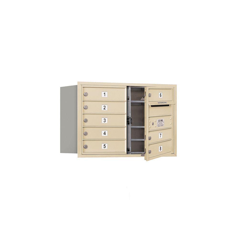 3700 Series 20 in. 5 Door High Unit Sandstone Private Front