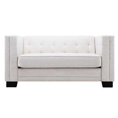 Monte Vista White Linen Loveseat