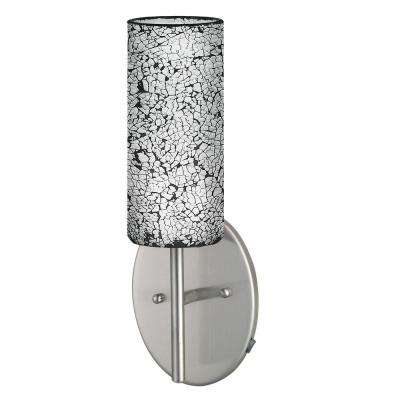 Croco 1-Light Satin Nickel Wall Light