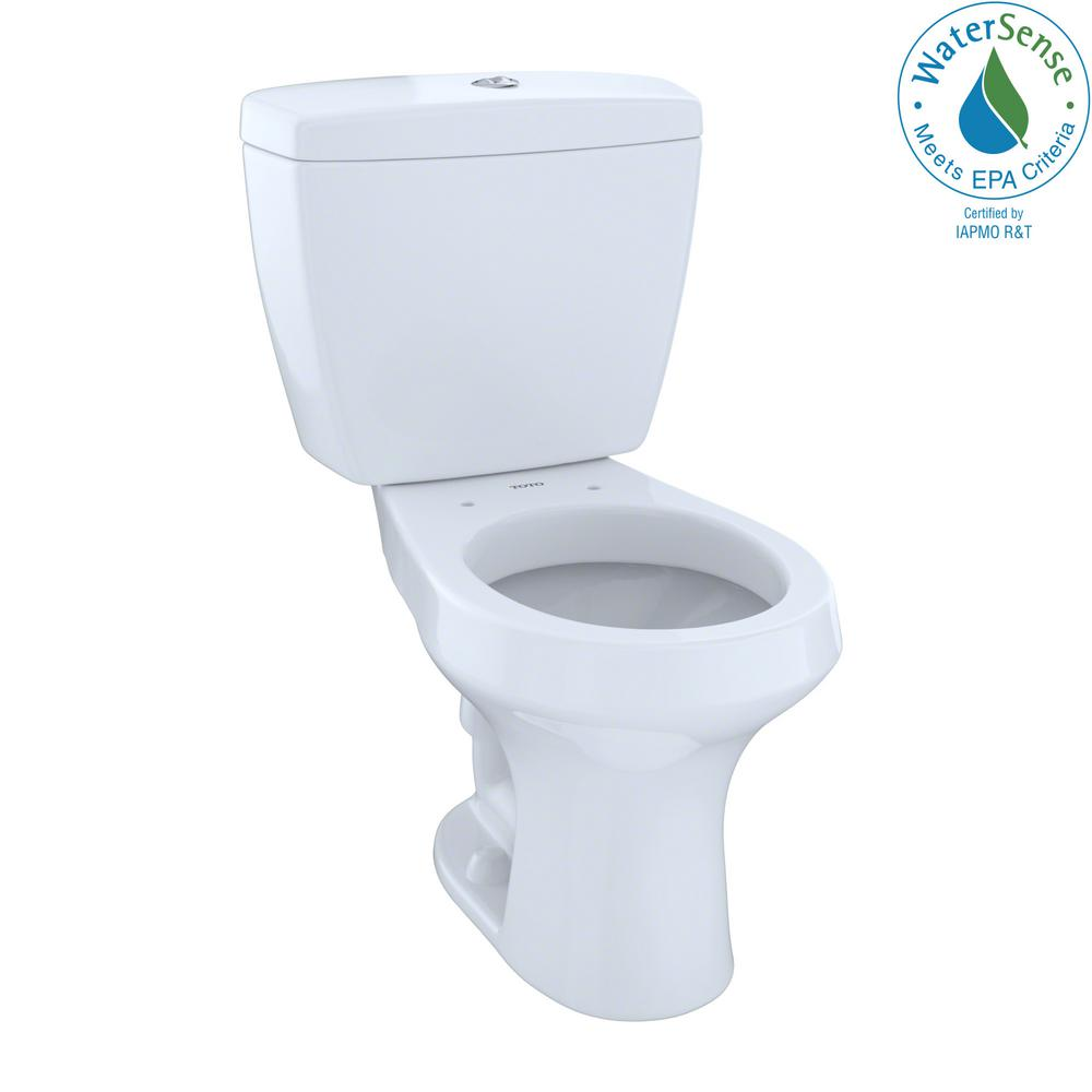 Toto Rowan 2 Piece 1 0 6 Gpf Dual Flush Round Toilet In Cotton White