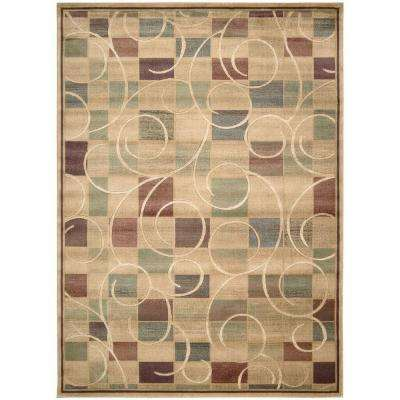 Expressions Beige 7 ft. 9 in. x 10 ft. 10 in. Area Rug