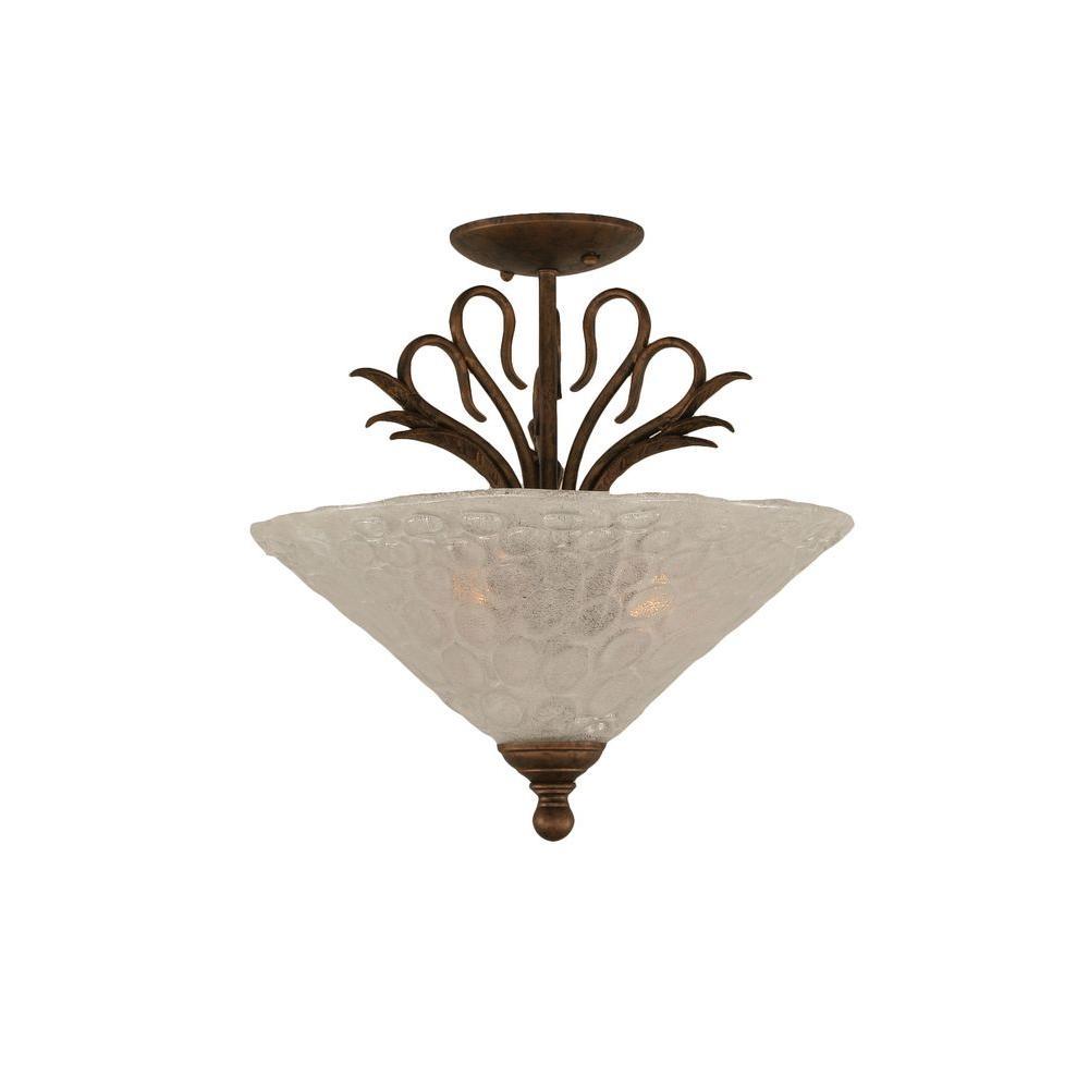 Filament Design Concord 3-Light Bronze Incandescent Ceiling Semi-Flush Mount Light