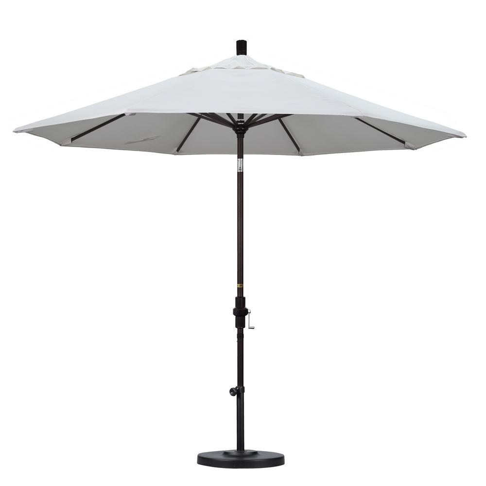 California Umbrella 9 ft. Aluminum Collar Tilt Patio Umbrella in Natural Pacifica