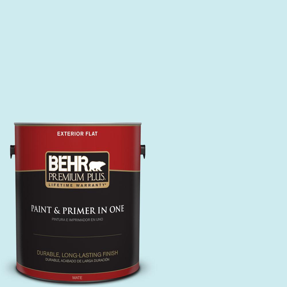 BEHR Premium Plus 1-gal. #510A-2 Salty Tear Flat Exterior Paint