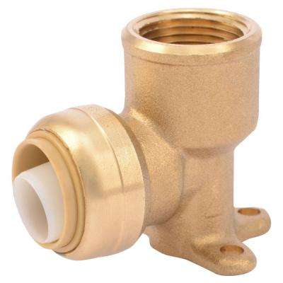 3/4 in. Brass 90-Degree Push-to-Connect x Female Pipe Thread Drop Ear Elbow