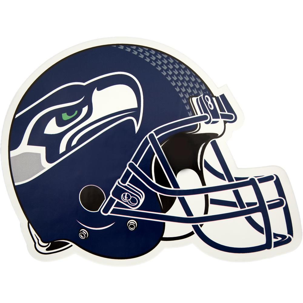 b4c89dd0393 Applied Icon NFL Seattle Seahawks Outdoor Helmet Graphic- Large-NFOH2903 -  The Home Depot