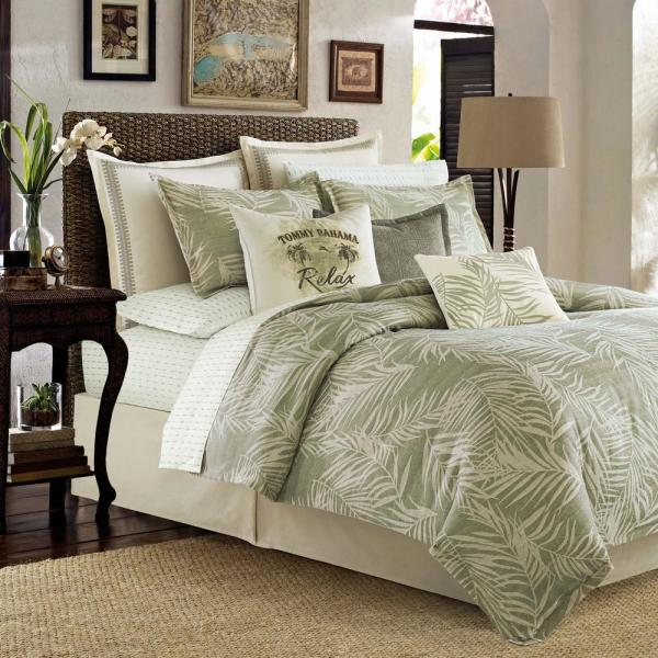 Palms 4-Piece Green California King Comforter Set