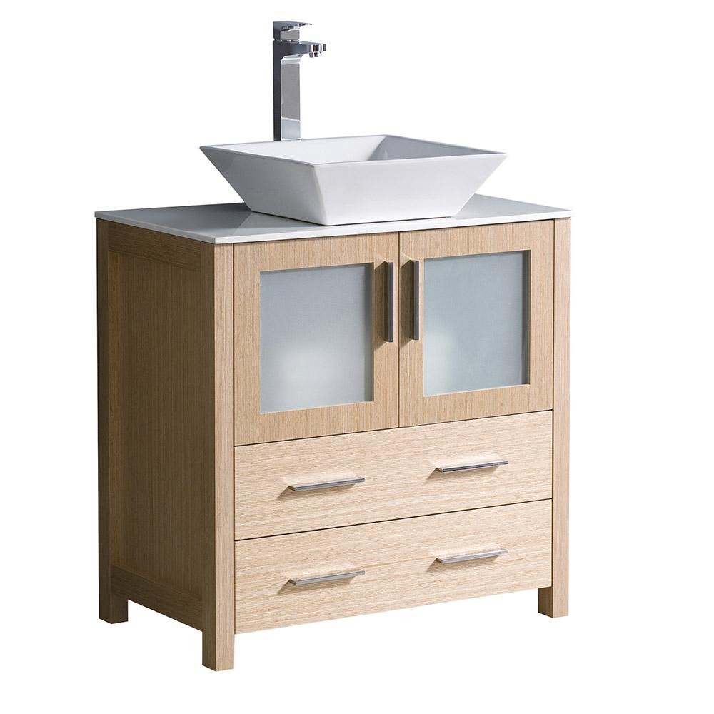 Glacier Bay Candlesby 30 1 2 In W X 18 3 4 In D Bath Vanity In Cognac With Solid Surface