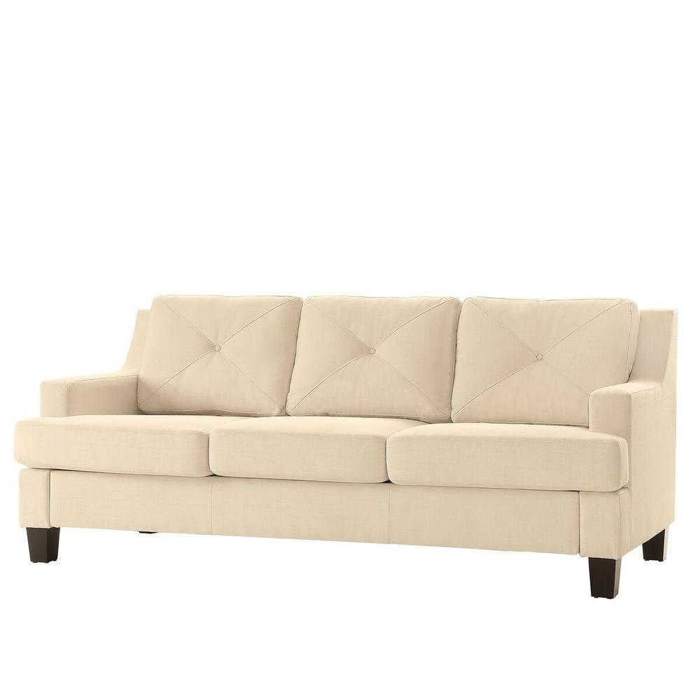 Homesullivan Emerson White Linen Sofa 40e502s Wlsofa The Home Depot