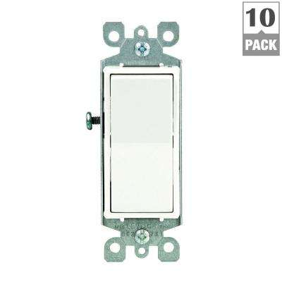 light switches wiring devices & light controls the home depot light switch wiring 3-way home decora 15 amp single pole ac quiet switch, white (10 pack)