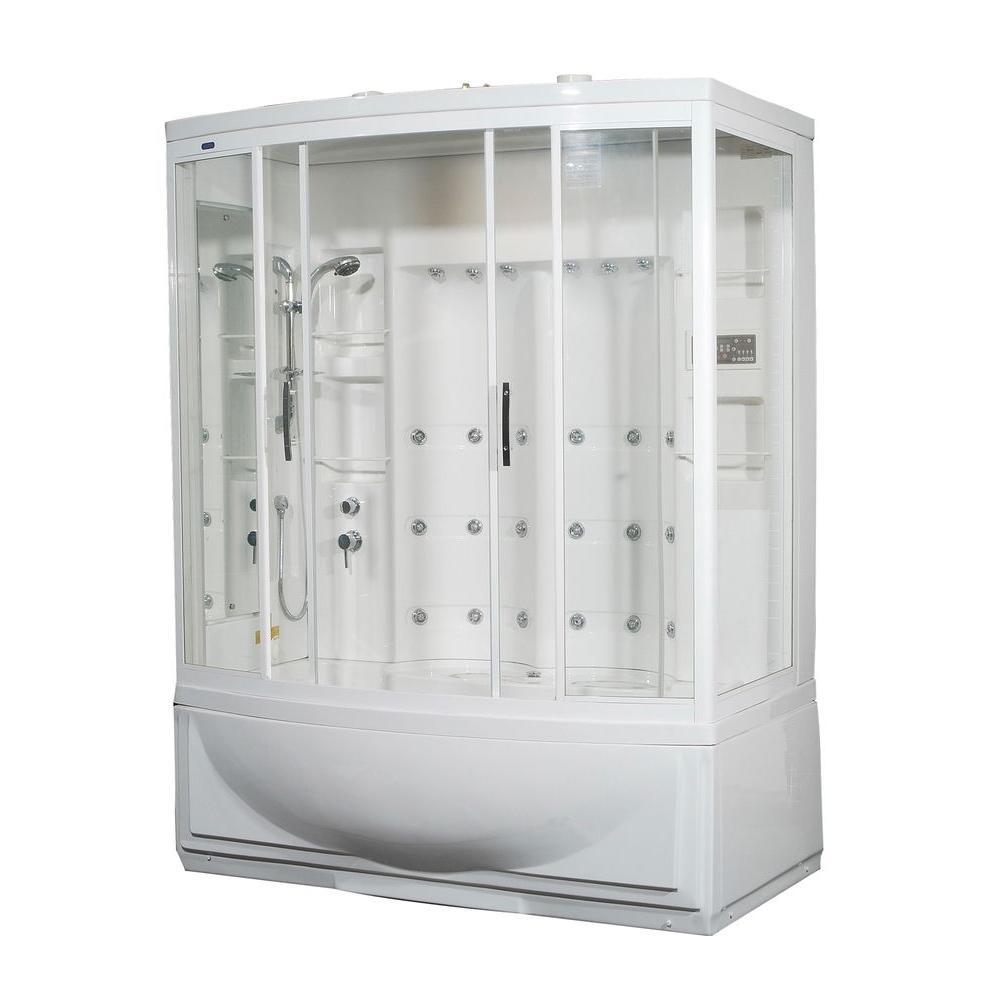 Aston ZAA In X In X In Steam Shower Left Hand - Bathroom enclosures home depot for bathroom decor ideas