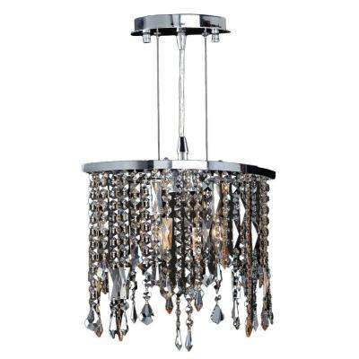 Fiona Collection 2-Light Chrome with Multi-Colored Crystal Pendant